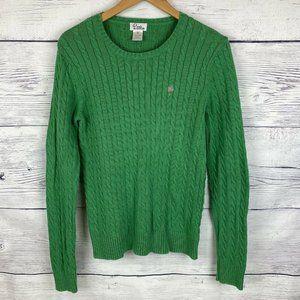 VTG Lilly Pulitzer Med Sweater Green Knit
